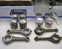 6 Twin Cam, pushrod, rods & pistons